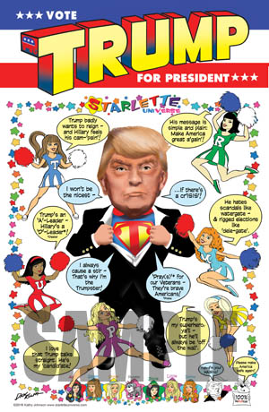 Starlettes Cartoon Poster Trump